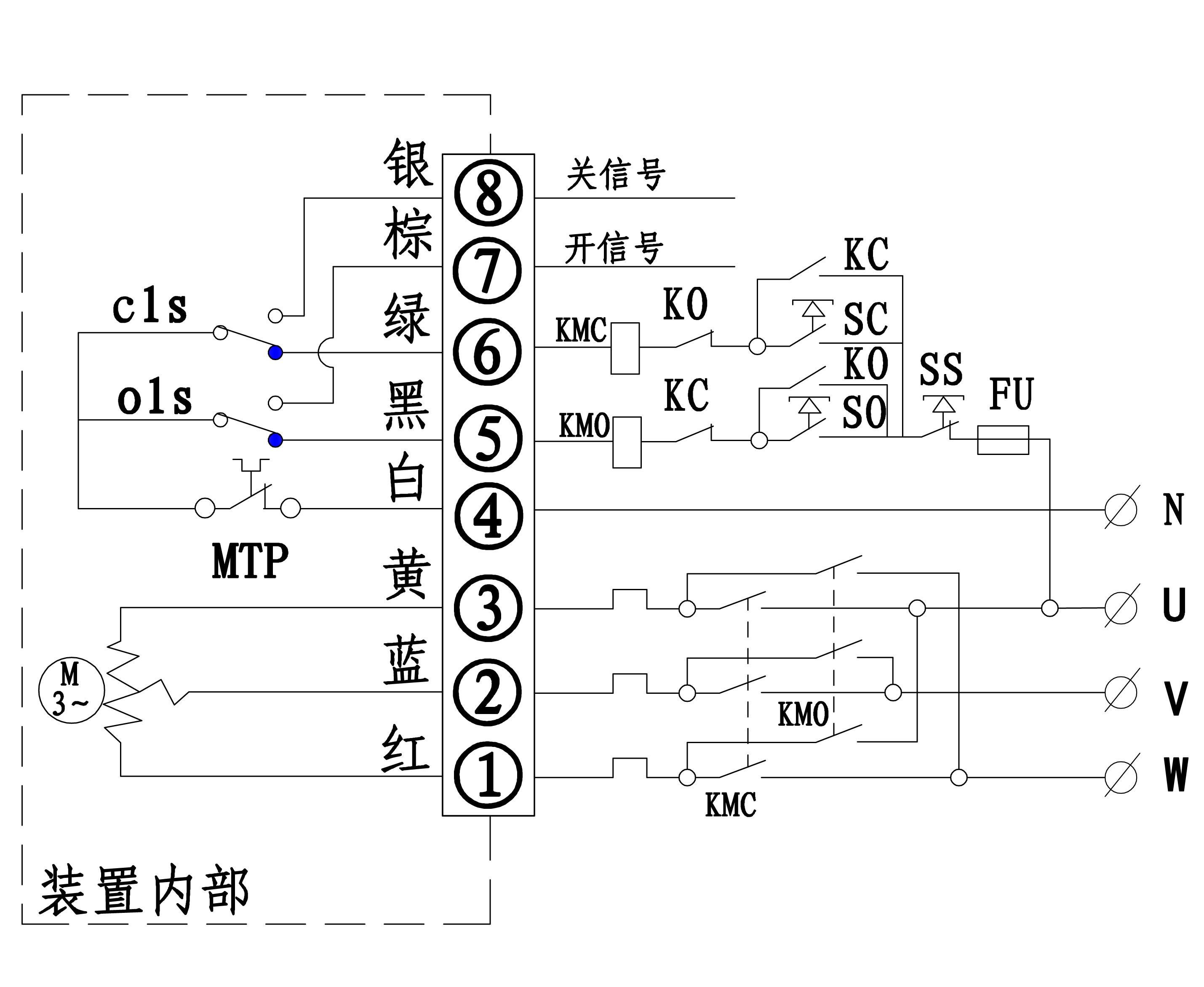 rc一50电动阀门电路图